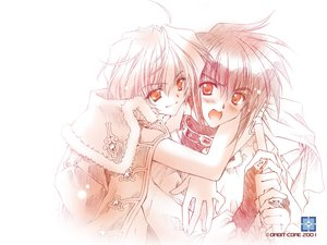Rating: Safe Score: 6 Tags: 0-torus hug orbit riku tagme torus_zero white User: Oyashiro-sama