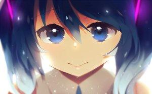 Rating: Safe Score: 39 Tags: aoiken blue_eyes blue_hair close hatsune_miku loli long_hair twintails vocaloid User: luckyluna