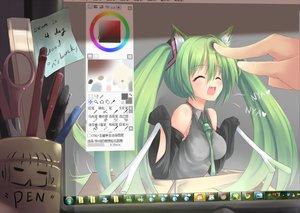 Rating: Safe Score: 237 Tags: animal_ears aqua_hair computer dreamlight2000 hatsune_miku twintails vocaloid windows User: HawthorneKitty