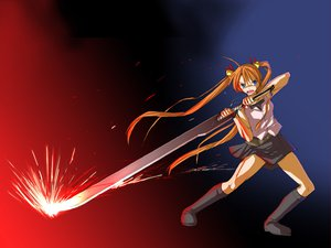 Rating: Safe Score: 33 Tags: bicolored_eyes kagurazaka_asuna mahou_sensei_negima sword weapon User: Oyashiro-sama