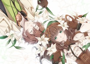 Rating: Safe Score: 46 Tags: brown_hair cardia_beckford code:realize corset flowers glasses gloves green_eyes headband long_hair male sayumari short_hair victor_frankenstein_(code:realize) User: otaku_emmy