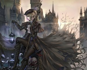Rating: Safe Score: 173 Tags: aaeru blonde_hair bloodborne boots chain gloves gothic hat lady_maria_of_the_astral_clocktower ponytail red_eyes skull User: Flandre93