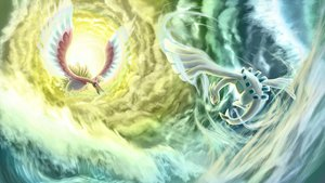Rating: Safe Score: 74 Tags: clouds ho-oh lugia pokemon water User: WingsofLight