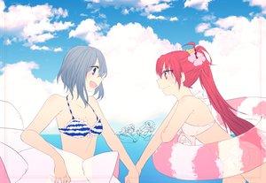 Rating: Safe Score: 18 Tags: bikini mahou_shoujo_madoka_magica miki_sayaka mizuki_(flowerlanguage) momoe_nagisa sakura_kyouko swim_ring swimsuit tomoe_mami User: FormX