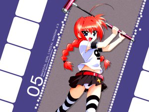 Rating: Safe Score: 20 Tags: braids mahou_shoujo_lyrical_nanoha mahou_shoujo_lyrical_nanoha_a's panties red_hair thighhighs underwear vita User: Oyashiro-sama