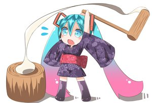 Rating: Safe Score: 48 Tags: chibi hatsune_miku japanese_clothes long_hair pokachu twintails vocaloid User: HawthorneKitty