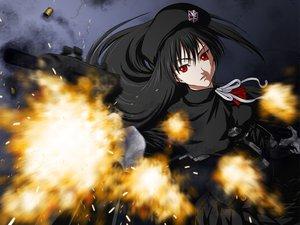 Rating: Safe Score: 9 Tags: black_hair gun iga_tomoteru original red_eyes tagme weapon User: Tensa
