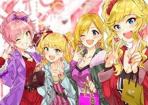 Rating: Safe Score: 27 Tags: aliasing blonde_hair blue_eyes fujimoto_rina green_eyes group idolmaster idolmaster_cinderella_girls jougasaki_mika jougasaki_rika loli long_hair miyabi_akino ootsuki_yui pink_hair valentine yellow_eyes User: sadodere-chan
