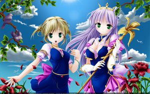 Rating: Safe Score: 37 Tags: 2girls bekkankou third-party_edit vector yoake_mae_yori_ruri_iro_na User: Oyashiro-sama