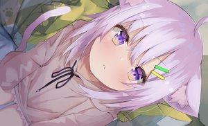 Rating: Safe Score: 109 Tags: aliasing animal_ears blush catgirl close eureka_814 hololive hoodie nekomata_okayu purple_eyes purple_hair short_hair tail User: otaku_emmy