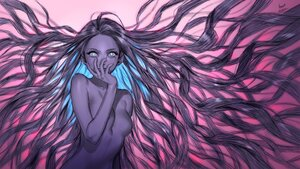 Rating: Safe Score: 45 Tags: aqua_eyes foo_midori long_hair original polychromatic purple_hair sketch User: otaku_emmy