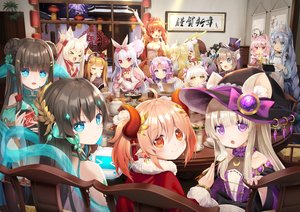Rating: Safe Score: 18 Tags: animal_ears coca_cola horns long_hair mvv original tagme_(character) twintails User: Dreista