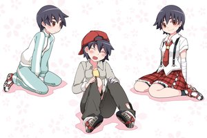 Rating: Safe Score: 15 Tags: bakemonogatari hammer_(sunset_beach) kanbaru_suruga monogatari_(series) User: FormX