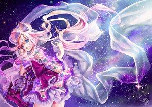Rating: Safe Score: 112 Tags: aqua_eyes japanese_clothes lolita_fashion long_hair original pink_hair signed sky space stars tamarashi yukata User: opai