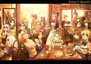 Rating: Safe Score: 86 Tags: aozaki_aoko aozaki_touko araya_souren archer arcueid_brunestud arima_miyako artoria_pendragon_(all) asagami_fujino bazett_fraga_mcremitz cake caren_hortensia crossover cu_chulainn emiya_kiritsugu fate_(series) fate/stay_night food gilgamesh group illyasviel_von_einzbern kara_no_kyoukai kokutou_azaka mahou_tsukai_no_yoru male neko-arc nrvnqsr_chaos rider ryougi_shiki saber shingetsutan_tsukihime tohno_akiha yumizuka_satsuki User: w7382001