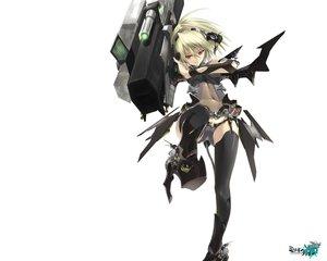 Rating: Safe Score: 182 Tags: blonde_hair gun kawanakajima mechagirl original panties red_eyes stockings thighhighs underwear weapon white User: Wiresetc