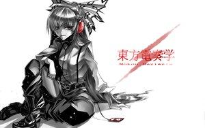 Rating: Safe Score: 71 Tags: bow fujiwara_no_mokou headphones karlwolf polychromatic smoking touhou white User: Tensa