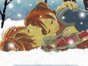 Rating: Safe Score: 21 Tags: bokura_ga_ita brown_hair snow takahashi_nanami yano_motoharu User: Maboroshi