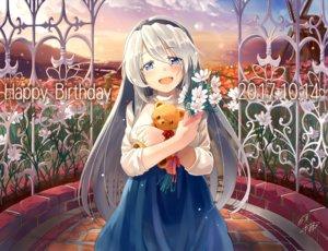 Rating: Safe Score: 23 Tags: clannad flowers naka_akira sakagami_tomoyo signed teddy_bear User: FormX