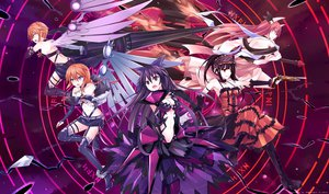 Rating: Safe Score: 244 Tags: black_hair boots breasts chain cleavage date_a_live dress elbow_gloves gloves gun headdress itsuka_kotori long_hair magic mmrailgun navel orange_hair red_hair short_hair thighhighs tokisaki_kurumi twins weapon wings yamai_kaguya yamai_yuzuru yatogami_tohka User: FormX