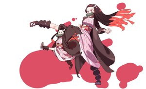 Rating: Safe Score: 42 Tags: black_eyes brown_hair gag japanese_clothes kamado_nezuko kimetsu_no_yaiba kimono loli long_hair lsw_(dltjddnja) pink_eyes User: RyuZU