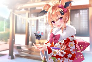 Rating: Safe Score: 51 Tags: demon iriam japanese_clothes kimono kuyurugi_shigure shimashima08123 User: Dreista