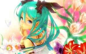 Rating: Safe Score: 191 Tags: flowers hatsune_miku redjuice vocaloid watermark world_is_mine_(vocaloid) User: 秀悟