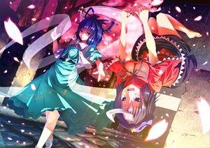 Rating: Safe Score: 53 Tags: 2girls dress kaku_seiga miyako_yoshika petals ryosios touhou User: HawthorneKitty