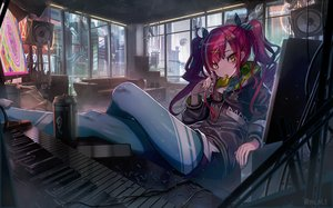 Rating: Safe Score: 55 Tags: building city couch drink food headphones hoodie instrument long_hair original piano red_hair twintails watermark yu_ni_t User: BattlequeenYume
