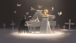 Rating: Safe Score: 28 Tags: animal bird black_hair blonde_hair brown_eyes cross gothic instrument lolita_fashion long_hair male nauimusuka piano ponytail sound_horizon tagme_(character) User: RyuZU