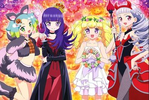Rating: Safe Score: 14 Tags: animal animal_ears bat blonde_hair blue_hair blush braids crown demon drink fang flowers green_eyes group halloween hara_shouji hortensia_(france_shoujo) long_hair navel pripara pumpkin purple_eyes red_eyes scan tagme_(character) tail twintails watermark white_hair User: RyuZU