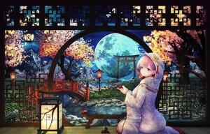 Rating: Safe Score: 77 Tags: asa-ai cherry_blossoms clouds drink flowers japanese_clothes kimono moon original pink_hair purple_eyes sake sky tears torii tree water wedding_attire User: BattlequeenYume