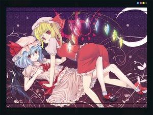 Rating: Safe Score: 9 Tags: 2girls flandre_scarlet muranisaki remilia_scarlet touhou vampire User: Xtea