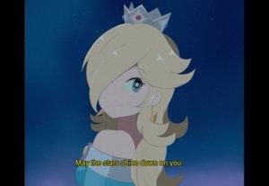 Rating: Safe Score: 43 Tags: aqua_eyes blonde_hair chocomiru close crown long_hair night rosalina sky stars super_mario_bros User: otaku_emmy