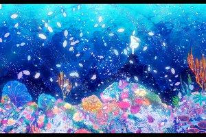 Rating: Safe Score: 76 Tags: deep-sea_girl_(vocaloid) hatsune_miku petals underwater vocaloid water User: FormX