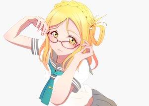 Rating: Safe Score: 47 Tags: blonde_hair braids close glasses long_hair love_live!_school_idol_project love_live!_sunshine!! mocha ohara_mari school_uniform third-party_edit white yellow_eyes User: luckyluna