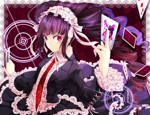 Rating: Safe Score: 104 Tags: brown_hair celestia_rudenberk dangan-ronpa headdress long_hair red_eyes ribbons tie twintails wowishi User: FormX
