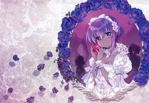 Rating: Safe Score: 58 Tags: apple assassin bow breasts carnelian cleavage dark_skin fate/grand_order fate_(series) flowers food fruit hassan_of_serenity headband king_hassan lolita_fashion petals purple_eyes purple_hair ribbons rose scan short_hair silhouette true_assassin User: otaku_emmy