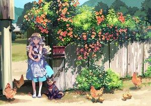Rating: Safe Score: 87 Tags: animal apron bf._(sogogiching) bird blonde_hair blue_eyes cat dog dress flowers hat long_hair original scenic shade summer summer_dress User: otaku_emmy