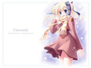 Rating: Safe Score: 12 Tags: blonde_hair blue_eyes canvas2_niji_iro_no_sketch housen_elis nanao_naru school_uniform User: Oyashiro-sama