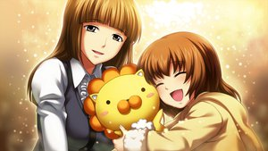 Rating: Safe Score: 41 Tags: 2girls brown_hair doll game_cg jpeg_artifacts loli long_hair sakutaro short_hair umineko_no_naku_koro_ni ushiromiya_maria ushiromiya_rosa yellow User: Katsumi
