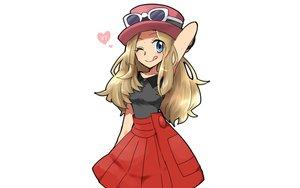 Rating: Safe Score: 44 Tags: blonde_hair blue_eyes fukumitsu_(kirarirorustar) glasses hat heart pokemon serena_(pokemon) skirt white User: mattiasc02