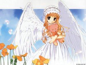Rating: Safe Score: 17 Tags: feathers flowers goth-loli headdress lolita_fashion orange_hair purple_eyes teddy_bear tenhiro_naoto wings User: Oyashiro-sama