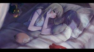Rating: Safe Score: 64 Tags: 2girls bed black_hair blonde_hair cosmog green_eyes lillie_(pokemon) long_hair mizuki_(pokemon) nonohana pokemon rowlet short_hair shoujo_ai User: FormX