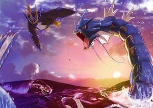 Rating: Safe Score: 65 Tags: bibarel clouds cojibou empoleon gyarados kouki_(pokemon) pokemon sky sunset water User: FormX