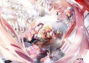 Rating: Safe Score: 60 Tags: aqua_eyes daidou_(demitasse) japanese_clothes kimono long_hair megurine_luka pink_hair vocaloid User: RyuZU