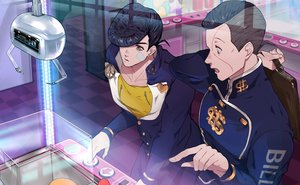 Rating: Safe Score: 7 Tags: all_male bandage black_hair higashikata_josuke jojo_no_kimyou_na_bouken male nijimura_okuyasu reflection sato_minato school_uniform short_hair User: otaku_emmy