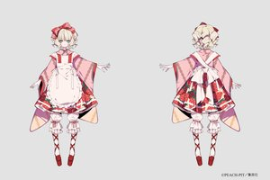 Rating: Safe Score: 36 Tags: aliasing apron blonde_hair bloomers bow gloves green_eyes hina_ichigo japanese_clothes kimono lolita_fashion ribbons rozen_maiden shikimi_(yurakuru) short_hair User: otaku_emmy
