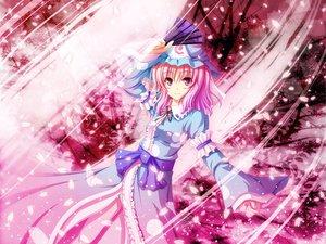 Rating: Safe Score: 39 Tags: akashio_(loli_ace) dress fan hat petals pink pink_eyes pink_hair saigyouji_yuyuko touhou User: HawthorneKitty