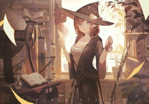 Rating: Safe Score: 114 Tags: animal bird black_desert_online blue_eyes book breasts brown_hair cleavage drink flowers hat long_hair mage pointed_ears tagme_(artist) witch User: BattlequeenYume